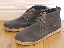 NEW Mens UK 8 EU 42 Wrangler WR168 Lace up Grey Leather suede desert Ankle Boots