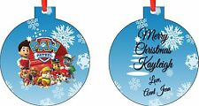 NEW Personalized Paw Patrol Ornament ( Add Any Message You Want)