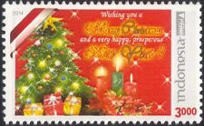 Indonesia 2014 Christmas/New Year/Greetings/Tree/Candles/Presents 1v (n45465)