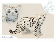 Standing White Bengal Cat Plush Soft Toy Feline by Hansa 6352