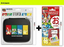 New Pokemon Display Film & Hard porch pouch case HORI for 2DS Nintendo Japan
