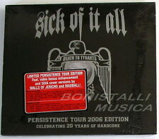 SICK OF IT ALL - DEATH TO TYRANTS - Persistence Tour Edition CD Sigillato