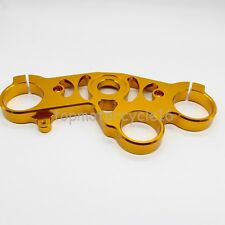 Gold CNC Lowering Triple Tree Front End Upper Top Clamp Fit YAMAHA YZF-R1 04-06