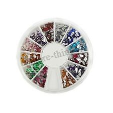 1x12 Colores Waterdrop Glitters Tips Nail Art Rhinestones