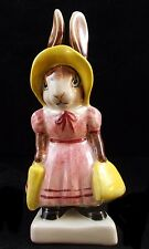 Vintage Mrs. Rabbit ARTONE Hand Painted Ceramic Figurine England A02