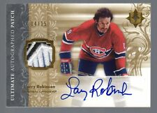 2006-07 Upper Deck Ultimate Larry Robinson Auto Patch #4/15 Montreal Canadiens