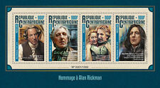 Cent African Rep 2016 MNH Alan Rickman 4v M/S Severus Snape Harry Potter Stamps