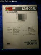 Sony Service Manual GDM 2038 Color Graphic Display (#4662)