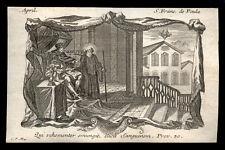 santino incisione 1700 S.FRANCESCO DI PAOLA.  klauber
