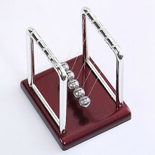 Steel Cradle Physics Science Pendulum Desk Fun Toy Gift Newton's Balance Ball GR