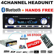 Bluetooth Car Stereo Audio CD In-Dash FM Aux Input Receiver SD USB MP3 Player US