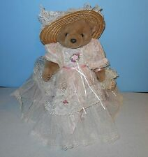 "Bearly People Victorian Elegance Series Sweet Charlotte 16"" Jointed Plush Bear"
