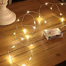 20 LED Micro Silver Wire Indoor Battery Operated Fairy String Lights by Festi...