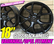 "18"" BLACK SNOWFLAKE ALLOY WHEELS FITS OPEL ASTRA H 04"