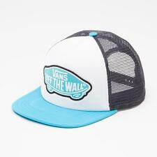 Vans Off The Wall Beach Girl White Blue Trucker Classic Patch Snapback New NWT
