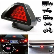 Universal F1 Style 12 LED Red Rear Tail Third Brake Stop Safety Lamp Light Car