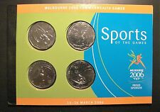 2006 50 cent COMM GAMES unc coins CYCLING AQUATICS HOCKEY ATHLETICS+ BOOK/STAMPS