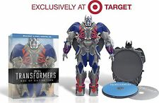TRANSFORMERS AGE OF EXTINCTION BLU RAY DVD EXCLUSIVE ed. OPTIMUS PRIME TARGET