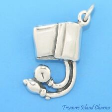 BLOOD PRESSURE CUFF METER MEDICAL DOCTOR .925 Sterling Silver Charm SPHYGMOMETER