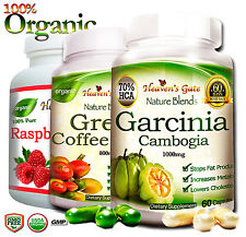 GARCINIA CAMBOGIA GREEN COFFEE BEAN RASPBERRY KEYTONE WEIGHT LOSS DETOX*
