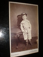Cdv photograph cheeky sailor boy basket by Godbold St Leonards-on-sea c1870s