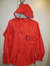 PATAGONIA ~PULLOVER RAIN JACKET w HOOD PONCHO Pack-able Men's M Taped Seams!!
