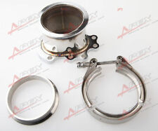 "FOR GT25R GT28R GT28RS To 3"" INCH V-BAND VBAND CLAMP FLANGE DOWNPIPE ADAPTER KIT"