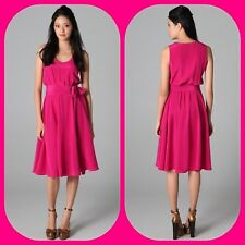 New $ MARC JACOBS SIENNA PINK CRANBERRY LADYLIKE SILK  cocktail dress s
