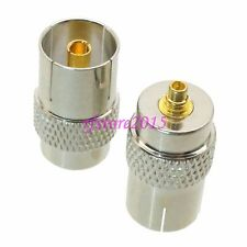 1pce Adapter Connector IEC PAL DVB-T female to MMCX male for TV DVB-T Tuner