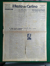 IL RESTO DEL CARLINO 29/8/1943 , RE BORIS III E' MORTO - BULGARIA