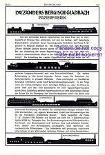 Papierfabrik Zanders Bergisch Gladbach XL Reklame 1916 Gohrsmühle Dombach Mühle