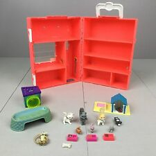 Kenner VINTAGE LITTLEST PET SHOP LOT Carrying Storage Case Pets Accessories Cats