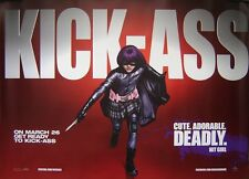 KICK-ASS ' HIT GIRL 'ORIGINAL ADVANCE D/S UK QUAD CINEMA POSTER,