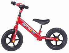 Merax Childrens Balance Bike No Pedal Push Bicycle for Girls or Boys 12-inch Red