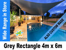 New Extra Heavy Duty Shade Sail- Rectangle 4m x 6m Grey Color Also Custom Made