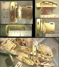 24 Lot Brass Kitchen Cabinet Overlay Spring Loaded Hinges Self  / Snap Close