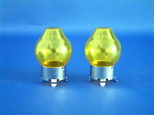 YELLOW GLASS CAP FOR H4  472  HEADLIGHT BULB x2 HIGH QUALITY  BRAND NEW