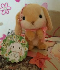 "AMUSE KAWAII POTE USA LOPPY BUNNY 4.3"" INCH PLUSH"