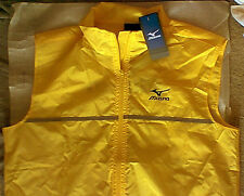 New NWT Mizuno Running Walking Safety Vest L Yellow reflective high visibility