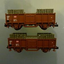Minitrix - Hochbordwagen mit Holzladung (Grubenholz) - 18 Stück verfügbar - NEU
