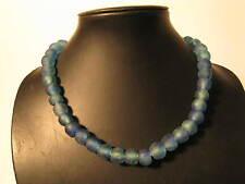Strang Pulverglasperlen 13mm Krobo Ghana Recycling Powder Glass Beads S Afrozip