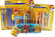 Pokemon 23 Piece Mega School Stationery Set, Pencil Case, Rainbow Pen