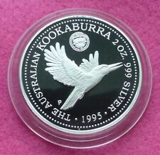 1995  KOOKABURRA 2oz 1927 FLORIN PRIVY MARK  SILVER PROOF $2 COIN