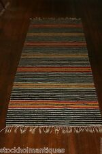 Gorgeous Swedish Rag Rug ( 31.5x90 inches)