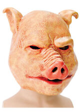 Adult Halloween Horror Latex Overhead Pig Farm Animal Saw Fancy Dress Mask New