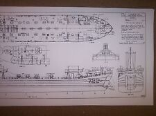 LST 722 DODGE COUNTY ship model  plans
