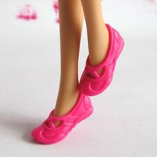 Doll Shoes - Mattel Barbie Deep Pink color Casual shoes 1pair#S1717