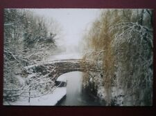 POSTCARD B3 BUCKINGHAMSHIRE SIMPSON - BOWLERS BRIDGE - COVERED IN SNOW