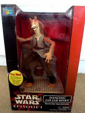 STAR WARS EPISODE 1 DANCING JAR JAR BINKS / SOUND & VOICE ACTIVATED WITH BOX