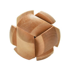 Wooden Football Lock Educational Puzzle Brain Teaser Removing Assemble Kid Toy Q